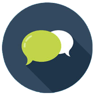 Conversation bubble icon