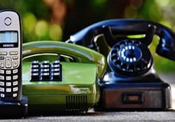 Image of telephones