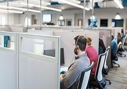 Image of people in call center