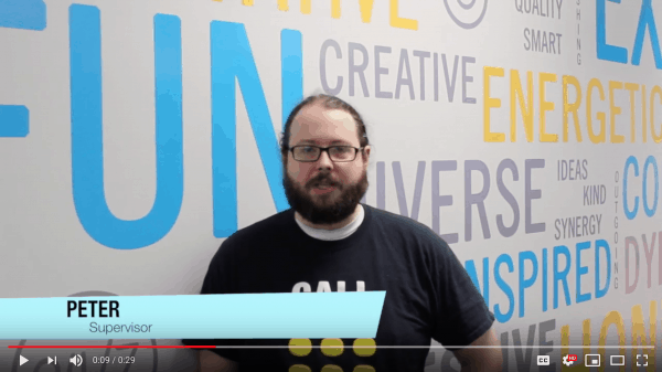 video highlighting team member Peter McKenzie