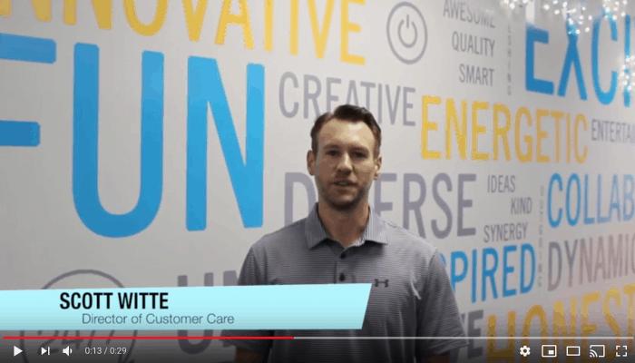 video highlighting team member Scott Witte