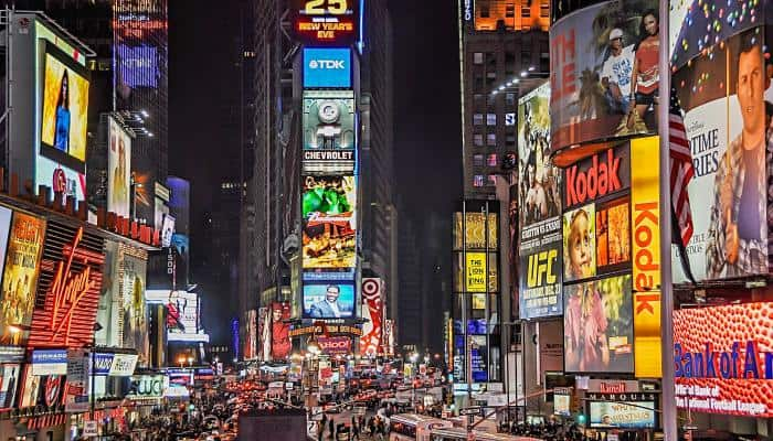 Time Square, NYC at night