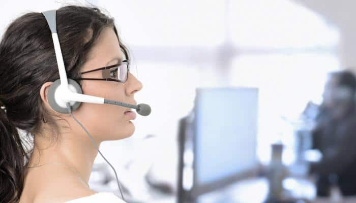 Image of call center employee