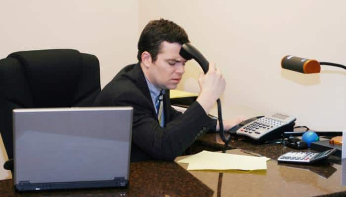 Image of man at desk