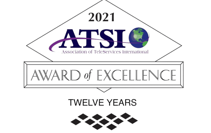 ATSI 12 YEAR AWARD OF EXCELLENCE